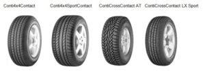 Continental nabízí rozsáhlou řadu pneumatik pro SUV
