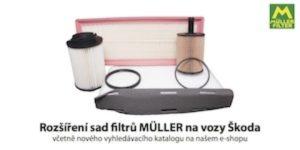 Rozšíření sad filtrů MÜLLER na vozy Škoda u firmy Genei
