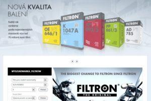 Nové webové stránky Filtron
