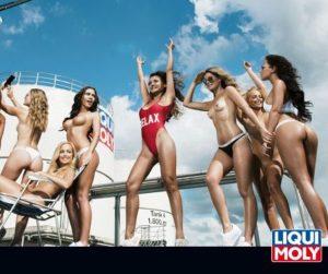 Továrny LIQUI MOLY se zaplnily modelkami pro erotický kalendář