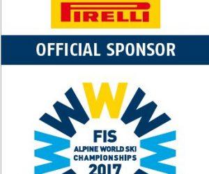 Pirelli sponzorom Majstrovstiev sveta v alpskom lyžovaní a Majstrovstiev sveta v ľadovom hokeji medzi rokmi 2017-2021