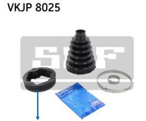 Produktová informácia SKF o obsahu sady a tvaru manžety VKPJ 8025