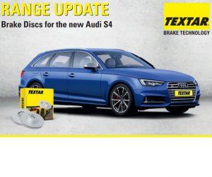 Nové brzdové kotúče Textar pre Audi