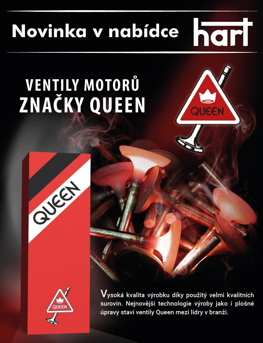 Ventily motorů značky Queen nově u HARTu