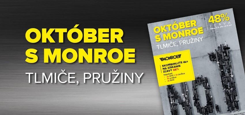 Október s Monroe - 48% zľavy na tlmiče a pružiny u Auto Kelly