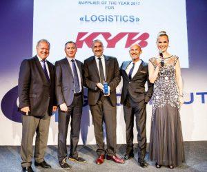 KYB dostala od GROUPAUTO International ocenenie