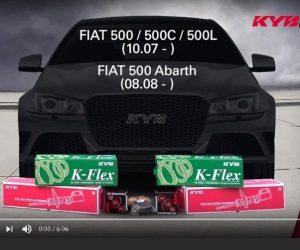 KYB montážne inštrukcie predných tlmičov FIAT 500