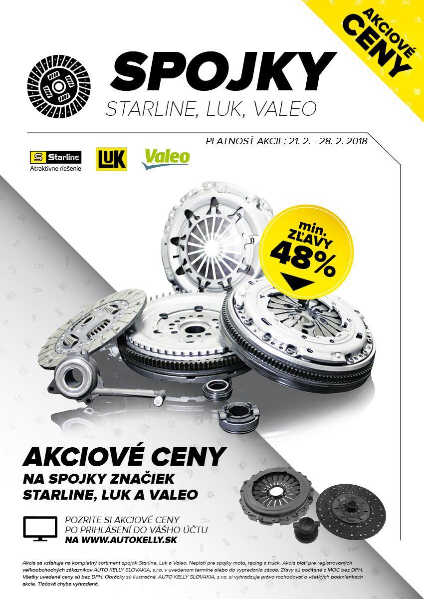 Spojky Starline, LUK, Valeo za akciové ceny u Auto Kelly