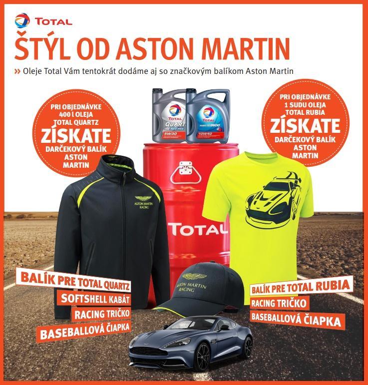 Oleje Total vám tentokrát dodá Trost aj so značkovým balíkom Aston Martin