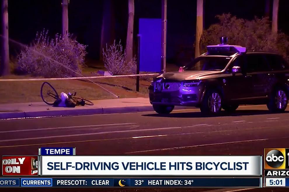 Nehoda autonómneho vozidla spoločnosti Uber
