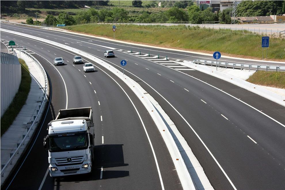 Ilustračný obrázok diaľnice