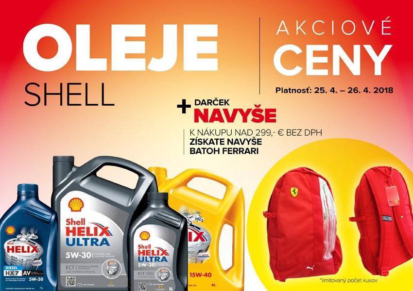 Akciové ceny na oleje Shell v Auto Kelly