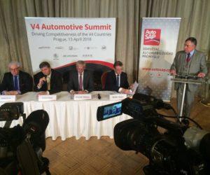 Summit V4 v Prahe určil spoločnú politiku v oblasti emisií CO2 a čistej mobility