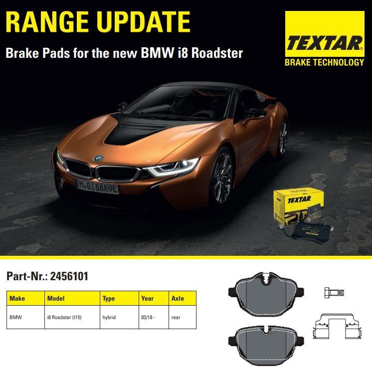 Brzdové destičky Textar pro nové BMW i8 Roadster