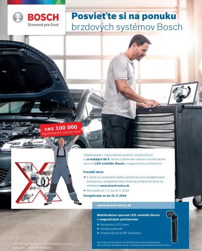 Za brzdy Bosch LED svietidlo grátis