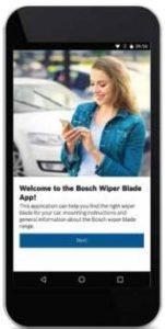 Aplikace Bosch Wiper Blade App