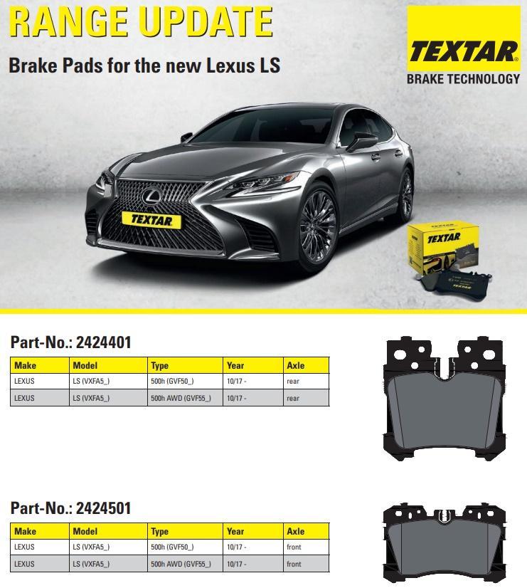 Textar umí brzdové destičky na Lexus LS