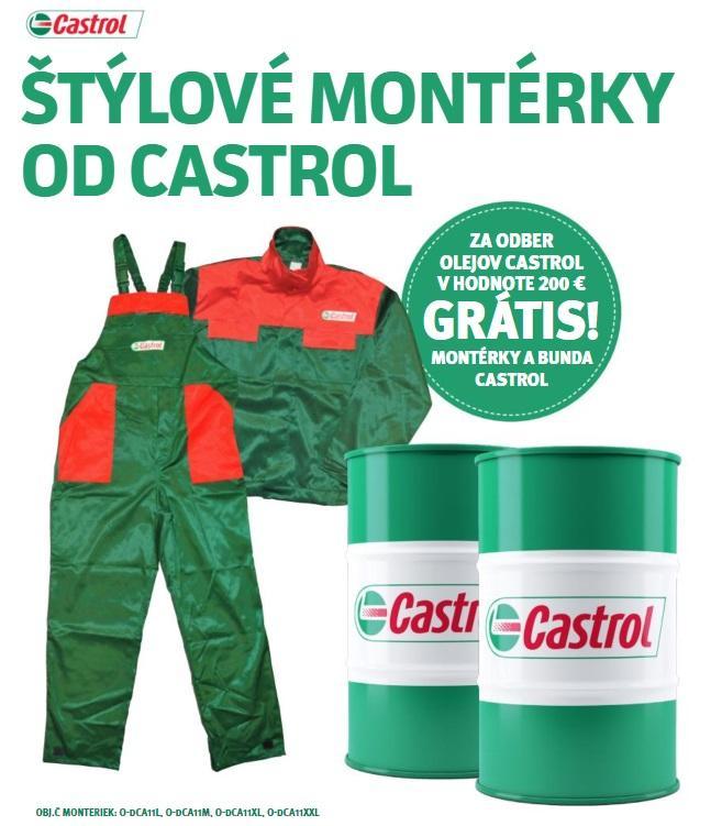 Za odber olejov Castrol montérky a bunda grátis