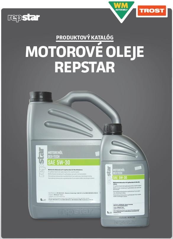 Produktový katalóg motorové oleje Repstar