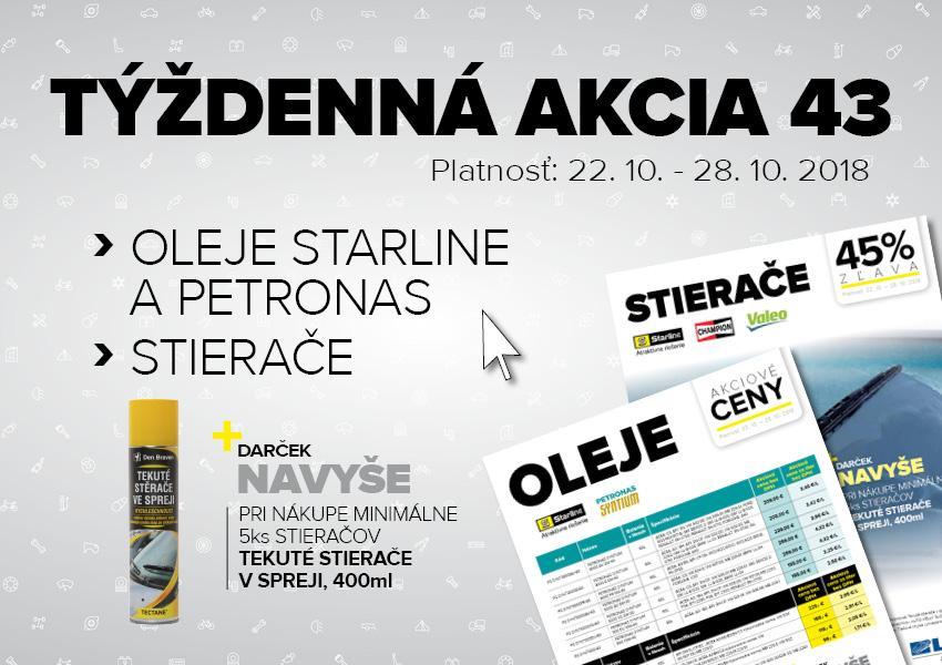 Akcie oleje Starline a Petronas + stierače v Auto Kelly