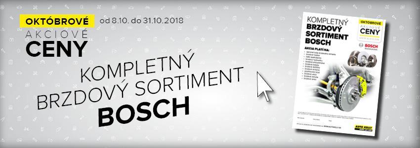 Akciové ceny na kompletný brzdový sortiment Bosch v Auto Kelly