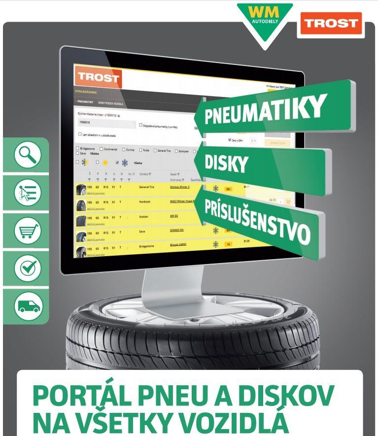 Špecializovaný portál pneu a diskov Trost