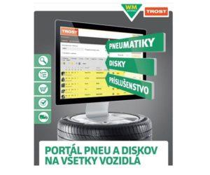 Nový portál pneu a diskov firmy Trost