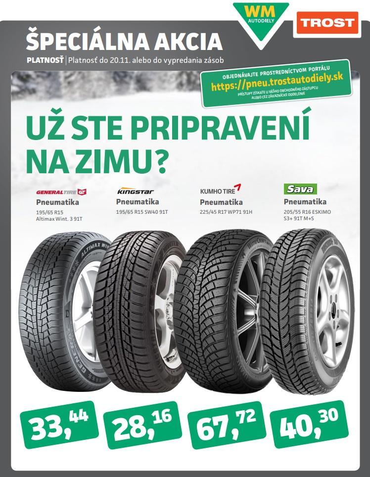 Špeciálna akcia na zimné pneumatiky v TROSTe