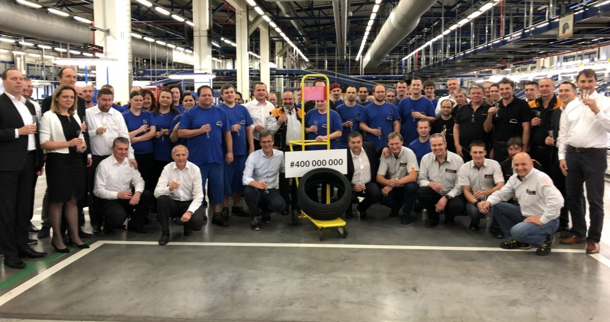 Spoločnost Barum Continental vyrobila 400miliontou pneumatiku