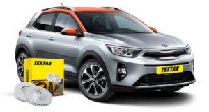 Brzdové kotúče Textar pre nový automobil Kia Stonic