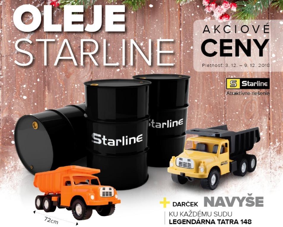 Akciové ceny olejov Starline + TATRA 148 zdarma u Auto Kelly