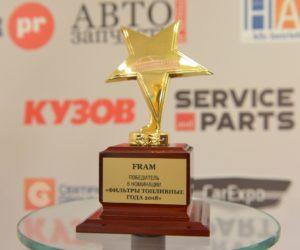 Filtre Fram získali ceny Autokomponent roka a MAK 2018