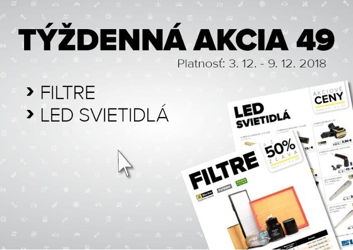 Až 50% zľavy na filtre Starline, Filtron a Mann + akcia na LED svietidlá a náradia u Auto Kelly