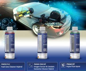 Čističe pre motory s hybridnou technológiou PRO-TEC HYBRID LINE