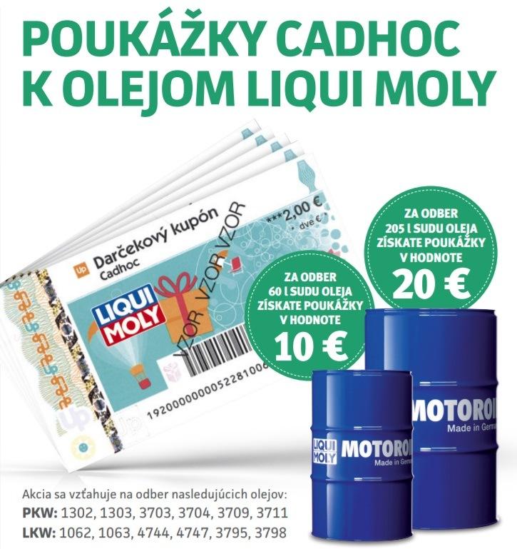 TROST: Poukážky Cadhoc k olejom Liqui Moly