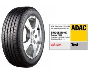 Pneumatika Bridgestone Turanza T005 zvíťazila v teste letných pneumatík autoklubu ADAC