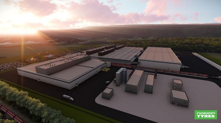 Továreň Nokian Tyres v Amerike
