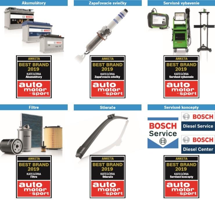 Bosch získal šesť ocenení Best Brand 2019