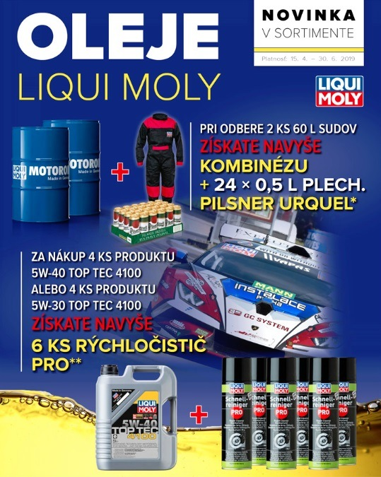 Darčeky k produktom Liqui Moly v Auto Kelly