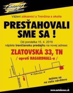 Trenčín pobočka Autobenex