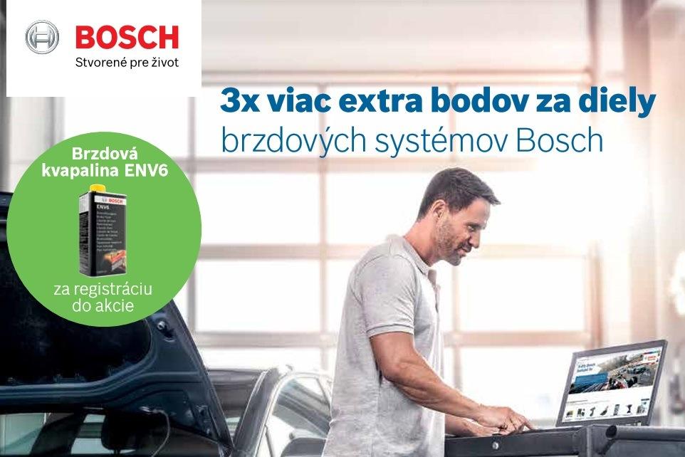 3x viac extra bodov za diely brzdových systémov Bosch
