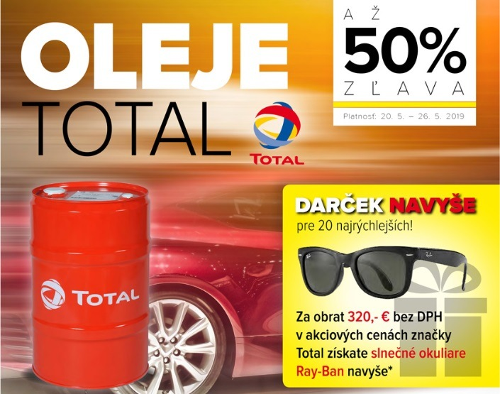 Akcia na oleje Total v Auto Kelly