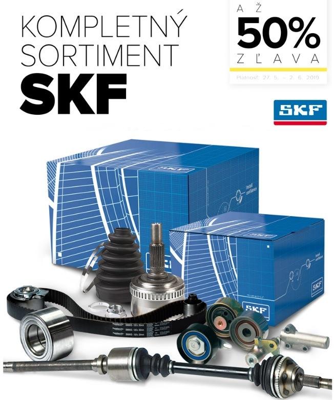 Až 50% zľavy na kompletný sortiment SKF u Auto Kelly