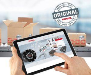 Optimalizovaný obchod s náhradnými dielmi Kögel Parts Shop prichádza s novým inteligentným riadením záruk
