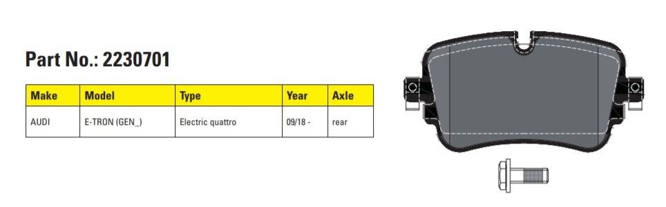 Firma Textar novo ponúka brzdové doštičky pre Audi E-tron