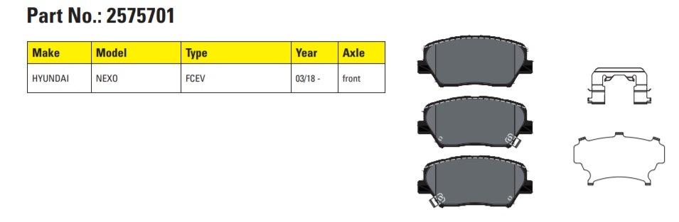 Brzdové doštičky Textar sú k dispozícii pre Hyundai Nexo