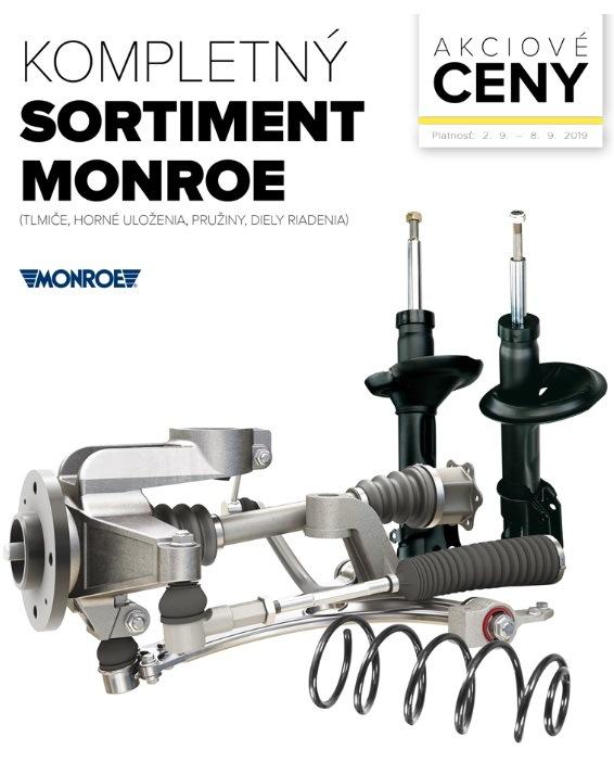Akciové ceny na kompletný sortiment Monroe v Auto Kelly