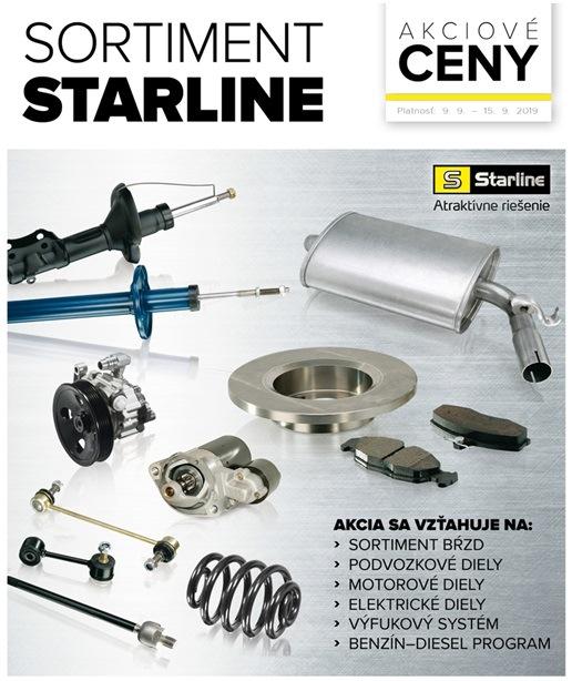 akciové ceny na kompletný sortiment Starline