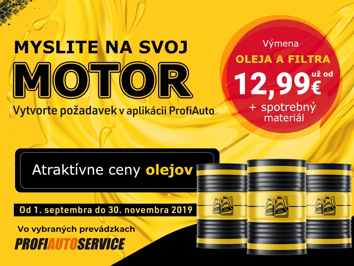 Výmena oleja a filtra za atraktívne ceny v sieti servisov AutoProfi