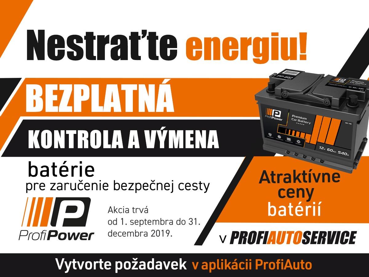 Bezplatná kontrola a výmena batérie v sieti servisov AutoProfi